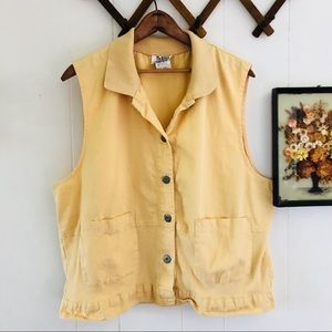 Meadow Flower Yellow Cotton Button Down